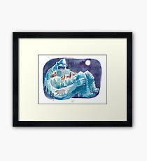 Yeti Mountain Framed Print