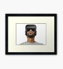 VR Headset Framed Print