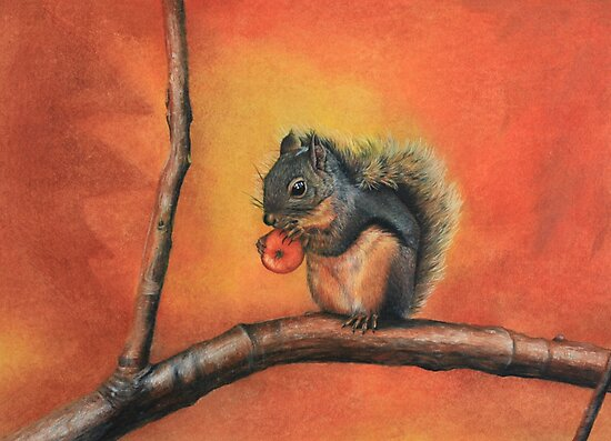 Little Red Squirrel  by Ria Spencer
