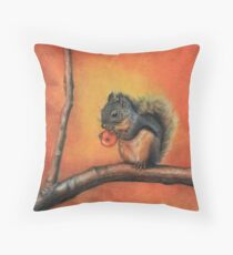 Little Red Squirrel  Throw Pillow