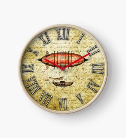 Vintage Steampunk Clock No.8, Elegant Vintage Steampunk Airship Clock