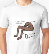 """Spurdo Sparde """"I Stay Here Forever"""" Fugg (Meme) Unisex T-Shirt"""
