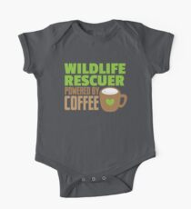 Wildlife rescuer powered by coffee One Piece - Short Sleeve