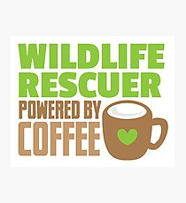 Wildlife rescuer powered by coffee Photographic Print