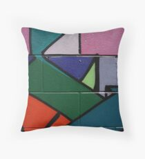 Colourful Geometric wall art Throw Pillow