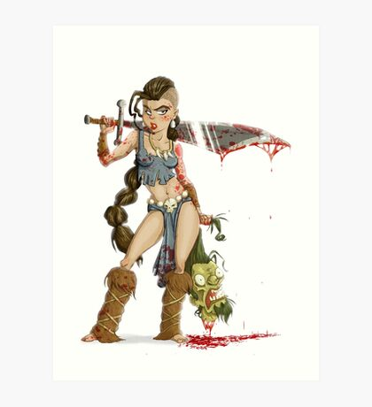 Barbarian Girl Art Print