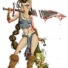 Barbarian Girl by stieven