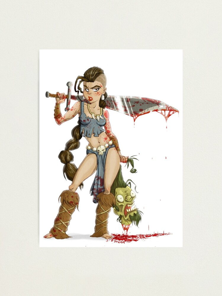 Alternate view of Barbarian Girl Photographic Print