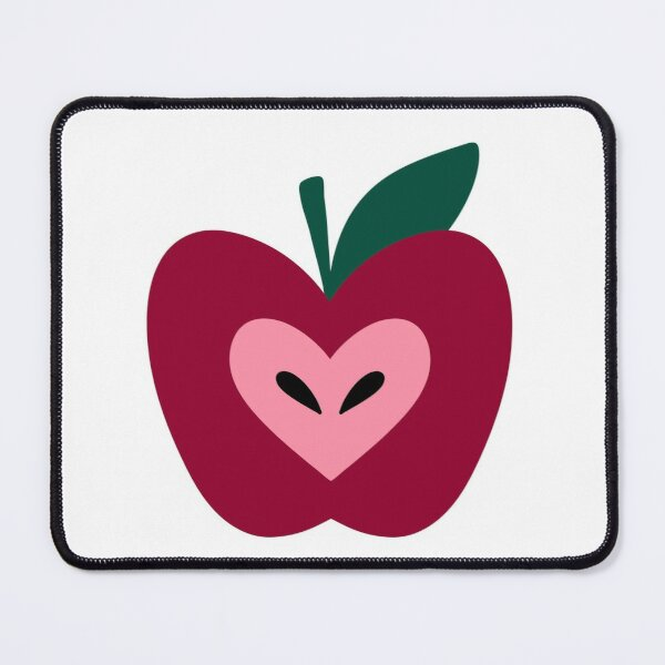 Doodle red apple  Mouse Pad