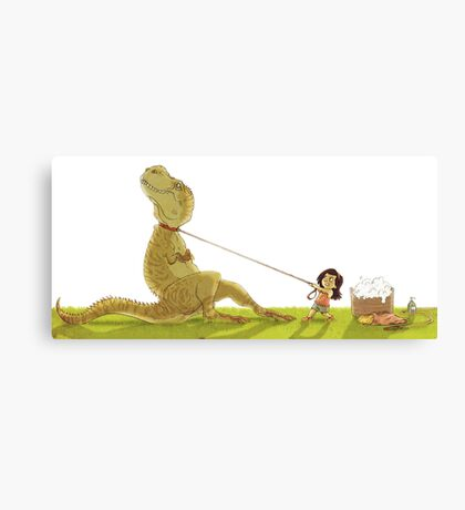 Dinosaur Bathtime Canvas Print
