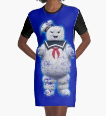 Vintage Stay Puft Marshmallow Man Graphic T-Shirt Dress