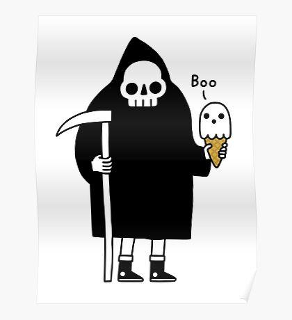 Spooky Ice Cream Cone Poster