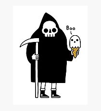 Spooky Ice Cream Cone Photographic Print