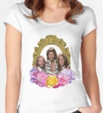Bee Gees framed with flowers Women's Fitted Scoop T-Shirt