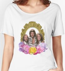 Bee Gees framed with flowers Women's Relaxed Fit T-Shirt