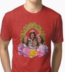 Bee Gees framed with flowers Tri-blend T-Shirt