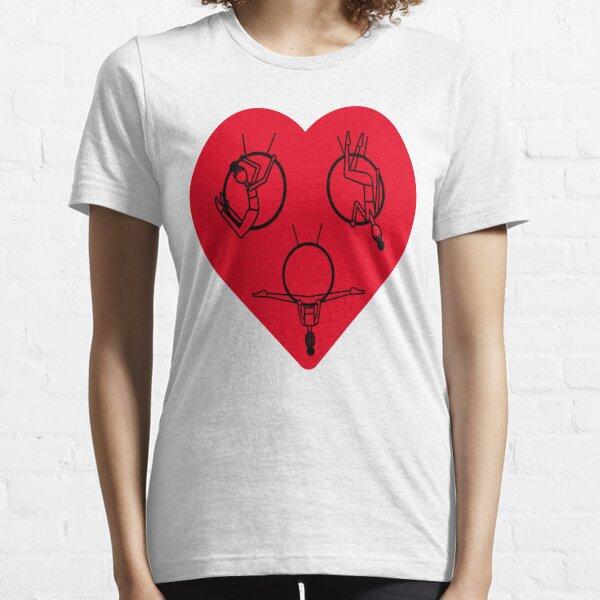 aerial lyra hoop And Aerial Silks Heartbeat Essential T-Shirt