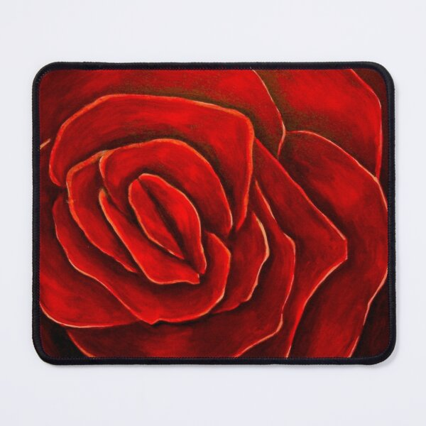 Red Velvet Rose Painting by Antonio Rael Mouse Pad