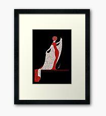 "Art Deco Costume by Erte ""Alphabet Cloak"" Framed Print"