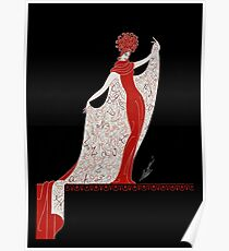 "Art Deco Costume by Erte ""Alphabet Cloak"" Poster"