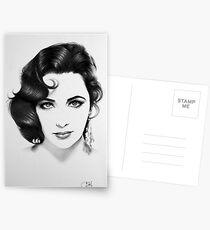Elizabeth Taylor Minimal Portrait Postkarten