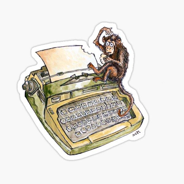 Typewriter Monkey Sticker