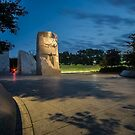 Martin Luther King memorial at dawn  by Sven Brogren