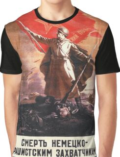 Soviet Propaganda - Death to the German Fascists! (1944) Graphic T-Shirt