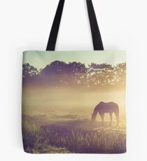Misty Morning on the Dutch Field Tote Bag