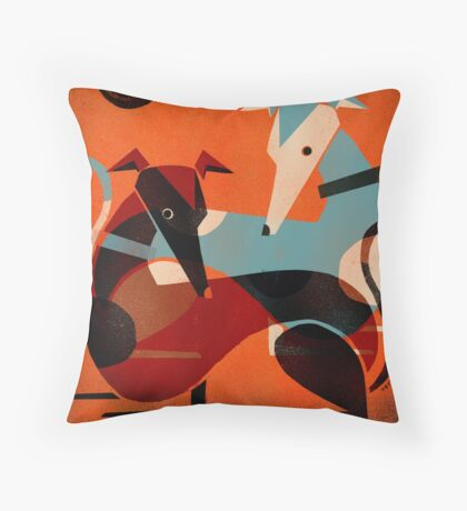 GREYHOUND PAIR Throw Pillow