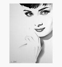 Audrey Hepburn Minimal Portrait Photographic Print