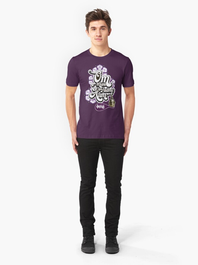 Alternate view of Om Mani Padme Hum Slim Fit T-Shirt