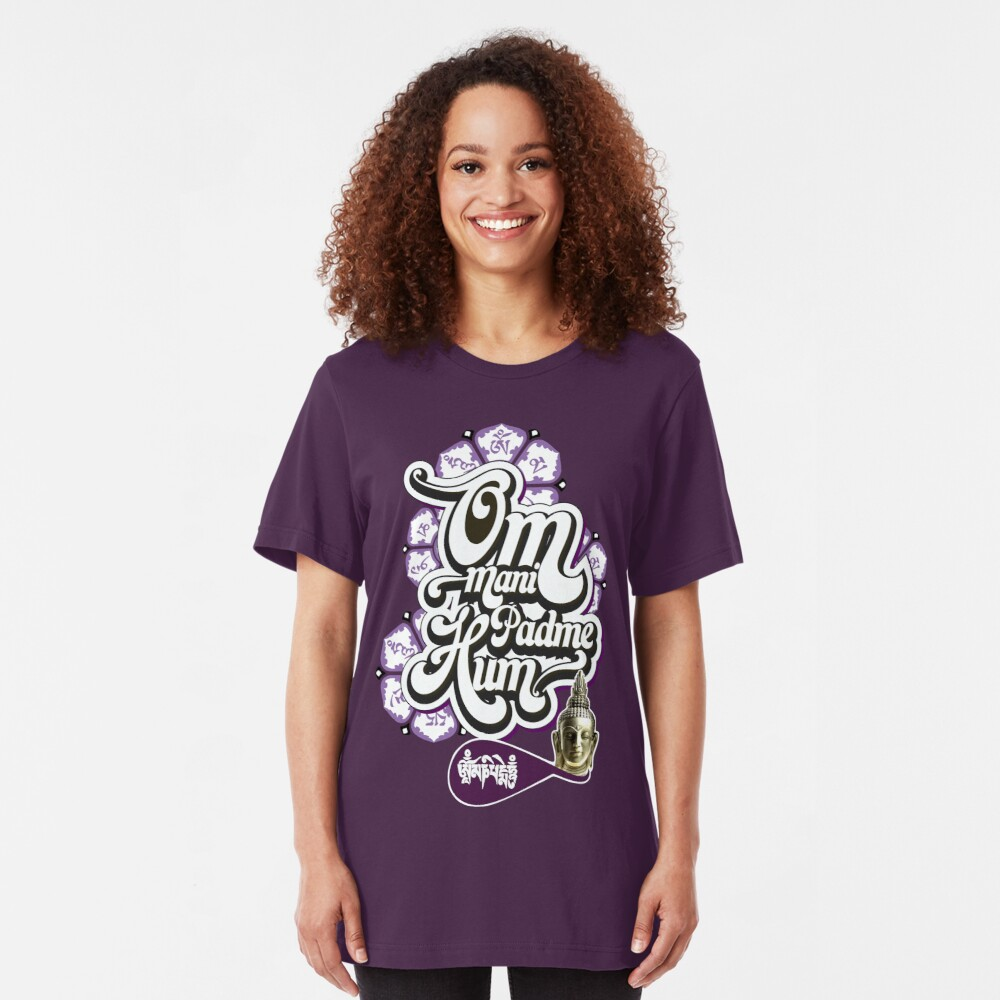 Om Mani Padme Hum Slim Fit T-Shirt