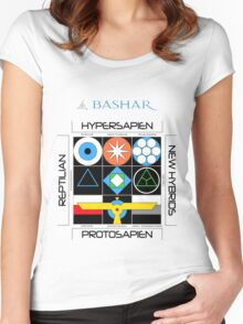 Bashar: Interstellar Enneagram (White) Women's Fitted Scoop T-Shirt