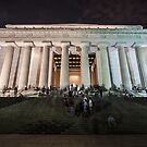 Lincoln memorial in the evening by Sven Brogren