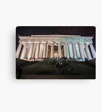 Lincoln memorial in the evening Canvas Print