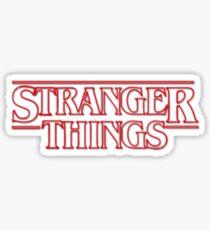 Stranger things tv series Sticker