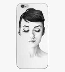 Audrey Hepburn Minimal Portrait iPhone Case