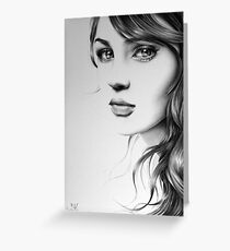 Pencil Portrait Greeting Card