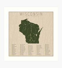 Wisconsin Parks Art Print