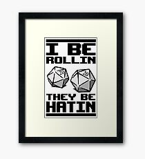 Roleplaying D20 Dice Framed Print