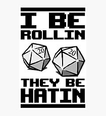 Roleplaying D20 Dice Photographic Print