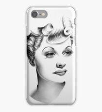 Lucille Ball Minimal Portrait iPhone Case/Skin