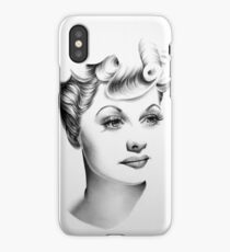 Lucille Ball Minimal Portrait iPhone Case