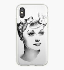 Lucille Ball Minimal Portrait iPhone Case