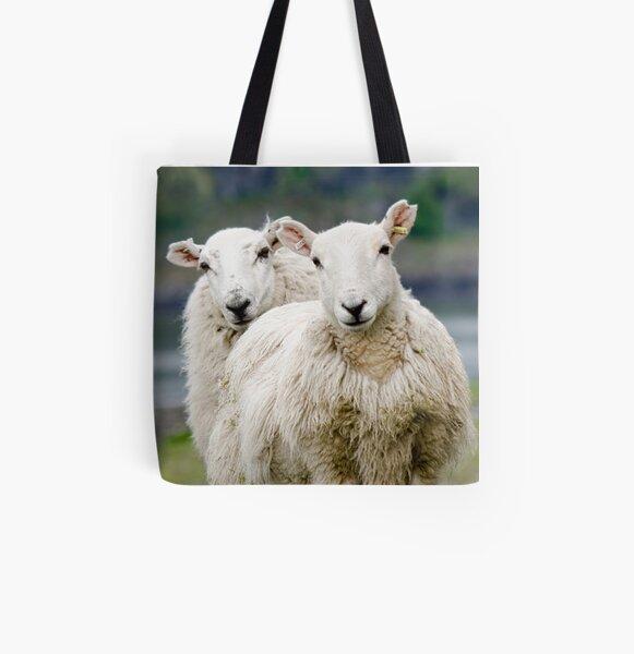 Sheep All Over Print Tote Bag