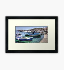 Fishing Boats in the Harbour Framed Print