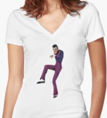 sneak around! Women's Fitted V-Neck T-Shirt