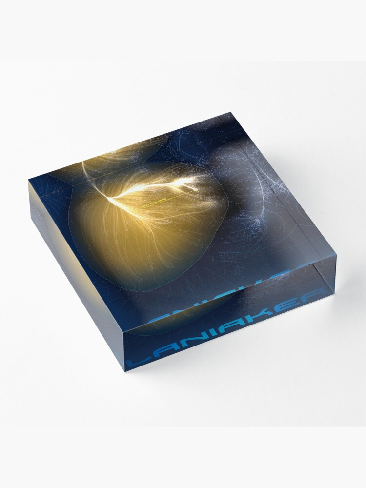 Alternate view of Laniakea - You Are Here - Version 2 Acrylic Block