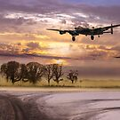 Morning return: Lancasters at sunrise by Gary Eason